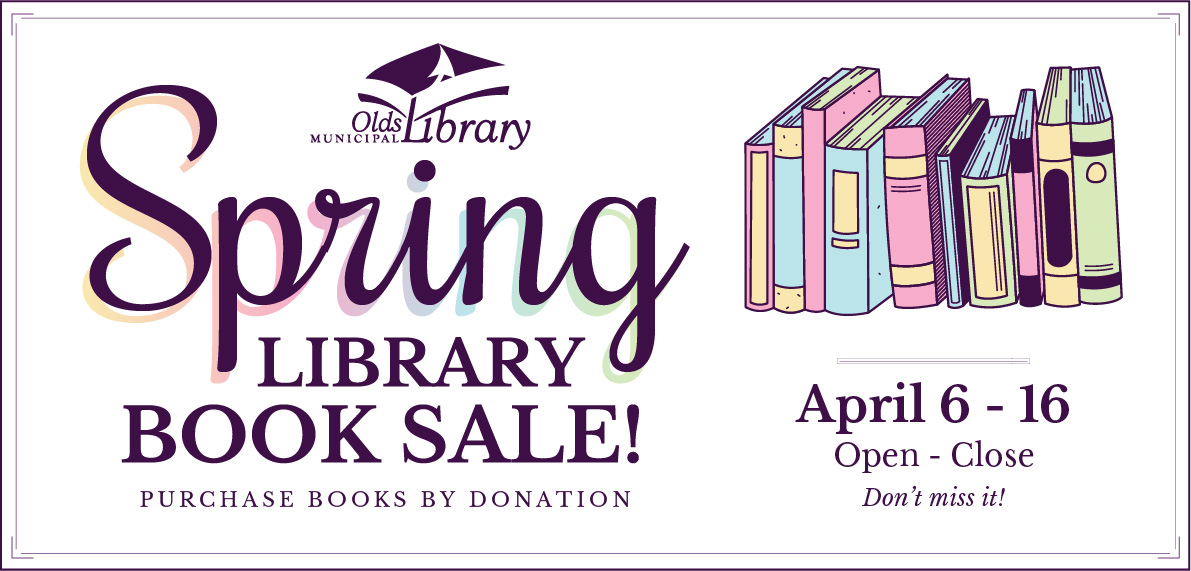 Spring Book Sale, Purchase Books By Donation, April 6 - 16